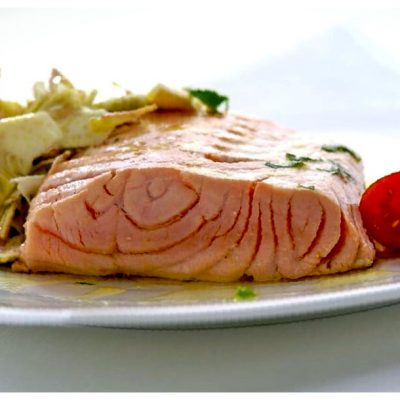 Recipes Selected - Lemon Artichoke Baked Salmon
