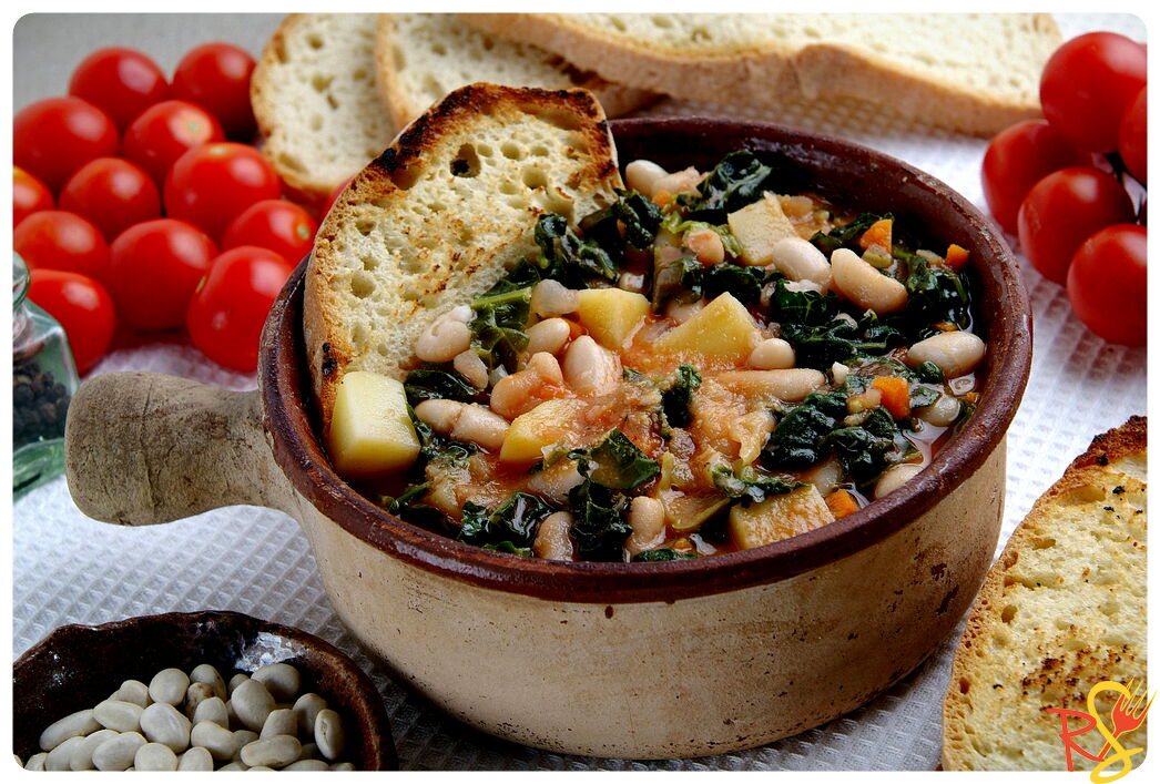 Italian Tuscan Soup of Black Cabbage