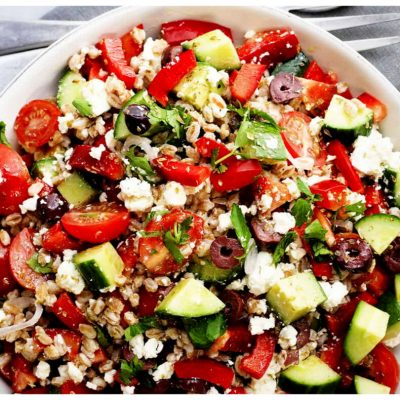 Recipes Selected - Greek Spelt Salad