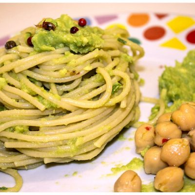 Recipes Selected - Vegan Creamy Avocado Pasta With Chickpea