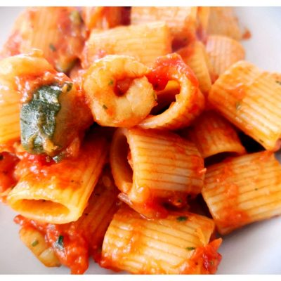 Recipes Selected - Pasta With Tomato, Ginger And Shrimp