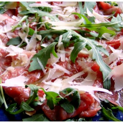 Recipes Selected - Beef Carpaccio With Arugula And Parmesan