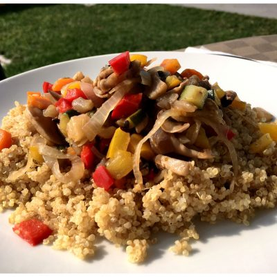 Recipes Selected - Quinoa Vegetable Salad With Peppers Zucchini And Mushrooms
