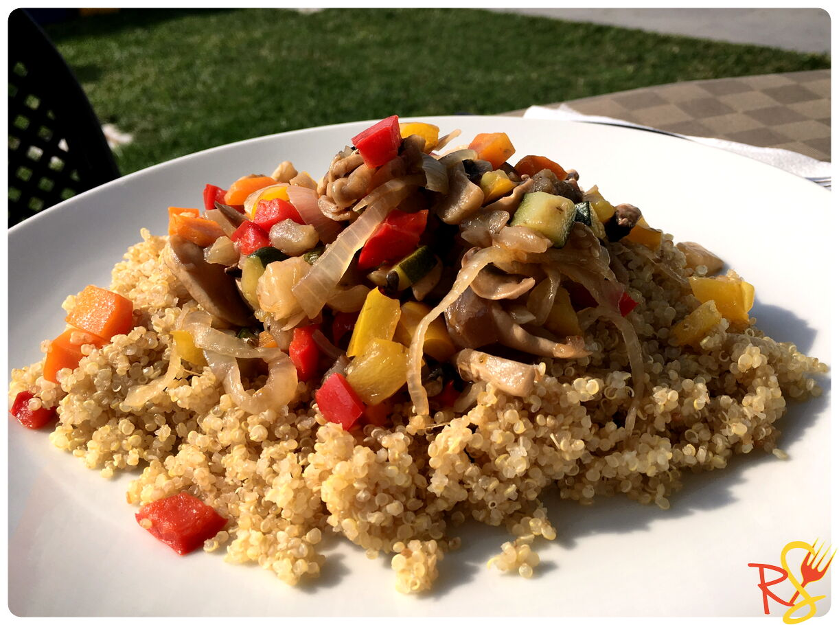 Vegetable Quinoa Salad With Peppers Zucchini And Mushrooms